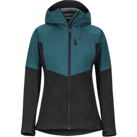 Marmot ROM Jas Dames, black/deep teal